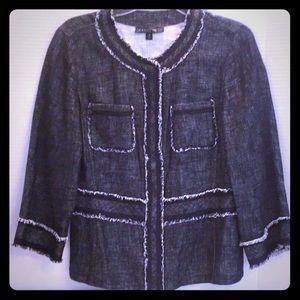 LAFAYETTE 148 New York Linen Rayon STUNNING Jacket